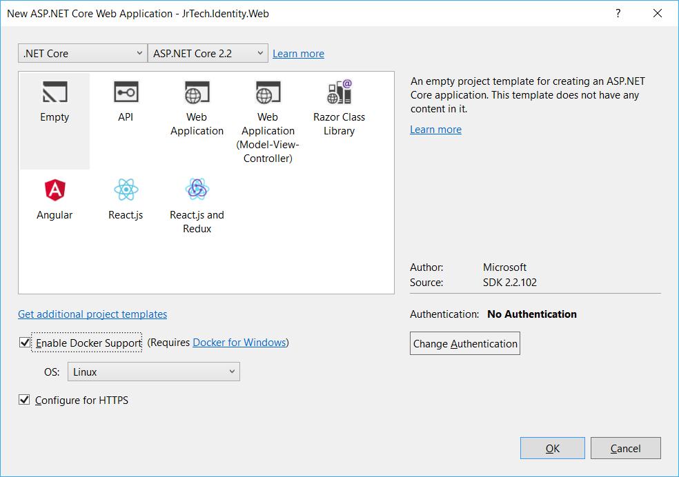 Running IdentityServer4 in a Docker Container - Espresso Coder